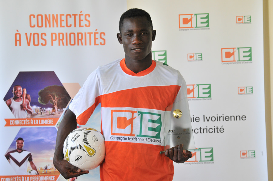 FOOTBALL: CHALLENGE AFI-CIE  Ouattara  Brahima, le meilleur de février.