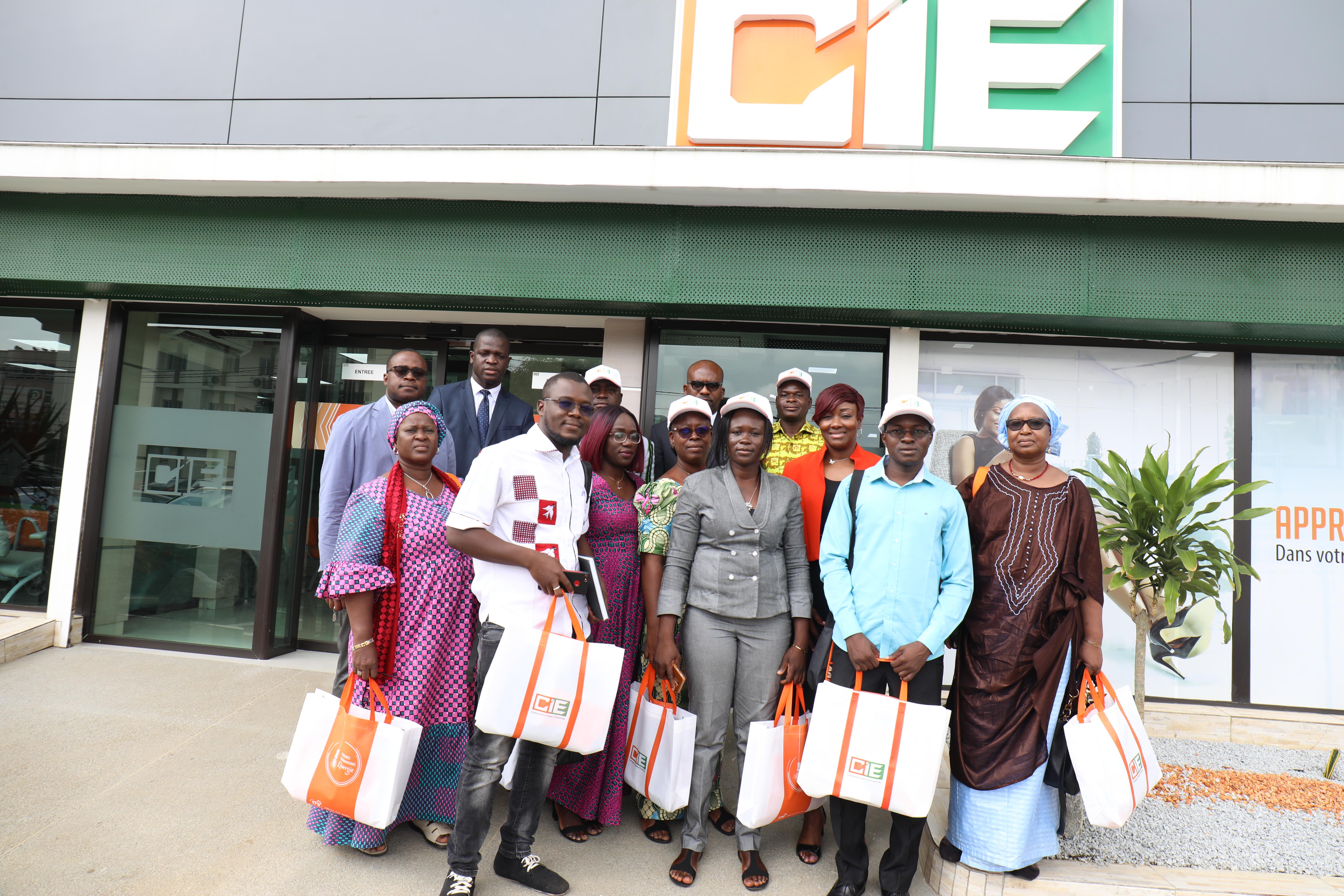 Visite d'entreprise : Une délégation de la SONABEL en visite à la CIE